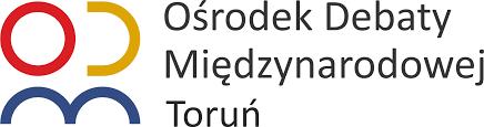 Ośrodek Debaty Międzynarodowej w Toruniu. Logo